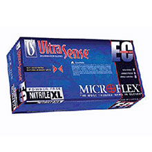 Microflex Medical Gloves Small Blue 11.4in UltraSense EC 4.7 mil Nitrile USE-880-S