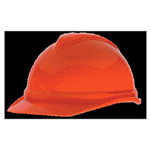 MSA Hardhat Hi Viz Orange V Gard Advance Class C Type 10034026