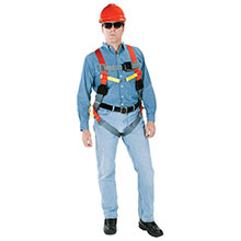 MSA Safety Harness X Small Orange Gray ArcSafe Vest Style 10060100