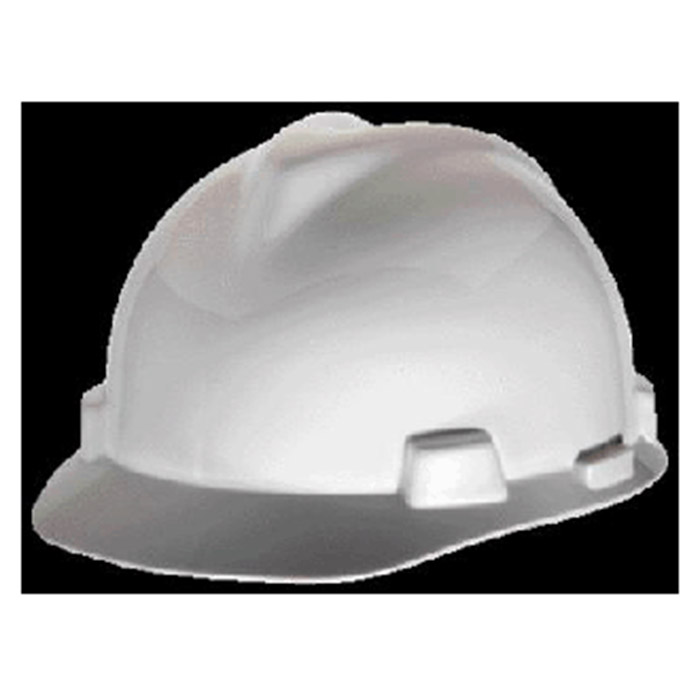 44943bb231f MSA Hardhat White V Gard Class E G Type I Polyethylene 463942