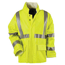 National Safety Rainwear Large Flourescent Yellow Arc H20 10 Ounce R30RLLG06