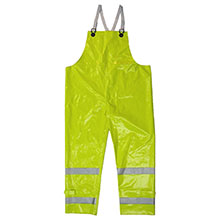 Neese Industries Dura Viz Bib Style Trousers, PVC Coated Polyester, Safety Fly with Snap Closure, Each 1930BTF