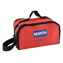 "North by Honeywell NOS018500-4222 Redi-Care 7"" X 10 1/2"" X 6"" Red Nylon Portable Mount Large 25 Person Responder First Aid Kit"