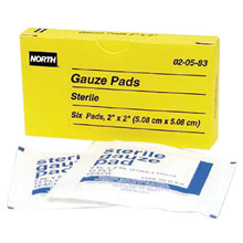 North by Honeywell 2in X 2in Latex Free Sterile Gauze Pad 20583