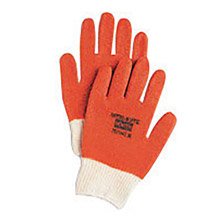 North by Honeywell NOS78/1142S Small Nitri-Kote Rust Nitrile Dipped Fully Coated Work Gloves With Natural Seamless Cotton And Polyester Knit Liner And Knit Wrist