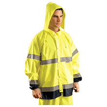 Occunomix Rainwear Large Hi Viz Yellow Navy Polyester TJR-YL