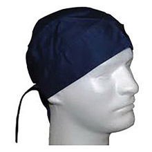 OccuNomix OCCTN5-01 Navy Blue Tuff Nougies 100% Cotton Doo Rag Tie Hat With Plastic Hook Closure And Holographic Hangtag