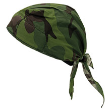 OccuNomix OCCTN6-JFL Jungle Camouflage Tuff Nougies 100% Cotton Deluxe Doo Rag Tie Hat With Elastic Rear Band