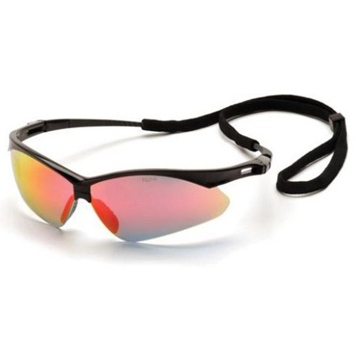 Pyramex Safety Glasses Frame Black Ice Orange Mirror SB6345SP