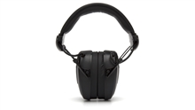Pyramex Clandestine Electronic Earmuff, Slim Profile Ear Cups, Height Adjustment to Fit All Sizes, Fold-Away Padded Headband, Omni Directional Microphone, External Access for Easy Battery Replacement, 2 AAA Batteries Included, NRR 24dB, Per Pair