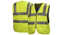 Pyramex CV200 Series ANSI Cooling Vest, Hi-Vis Class 2, Inner Evaporative PVA, Soft Polyester Quilted Outer Shell, Zipper Front Closure, Adjustable Waist Band Hook and Loop, Reusable and Machine Washable, Per Each
