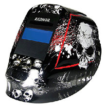 Radnor Welding Helmet DV Series Black White Red 64005202