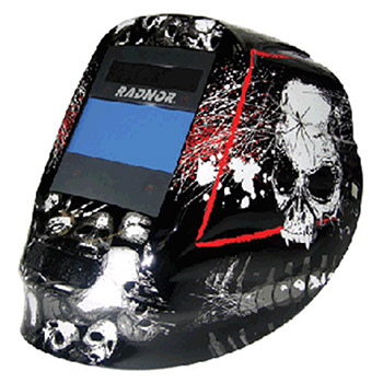 Radnor Welding Helmet DV Series Black White Red 64005212