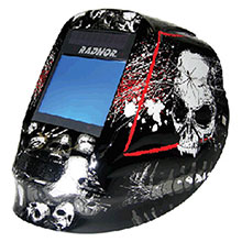 Radnor Welding Helmet DV Series Black White Red 64005222