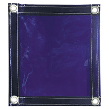 Radnor RAD64052106 6' X 6' 14 MIL Blue Transparent Vinyl Replacement Welding Screen