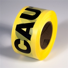 Radnor 3in X 1000 Yellow 2 Mil Barricade Tape inCautionin 64055720