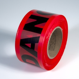 Radnor 3in X 1000 Red 2 Mil Barricade Tape inDangerin 64055722
