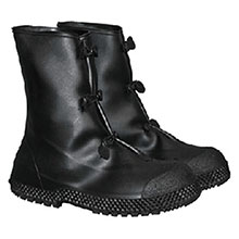 Radnor PVC Boots Medium Black 12in 3 Button Overboots 64055792