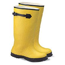 Radnor Rubber Boots Size 9 Yellow 17in Over The Shoe 64055842