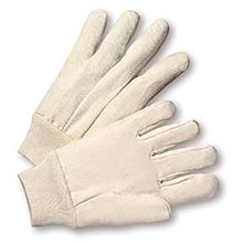 Radnor Men's White 12 Ounce 100% Cotton Canvas Gloves   RAD64057114