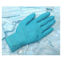 Radnor Disposable Gloves Medium Blue 9 1 2in 4 mil Industrial Food 64057252