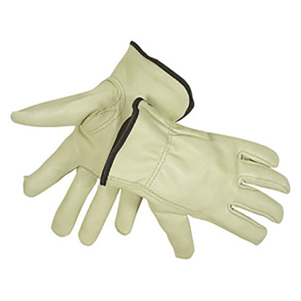 Radnor Medium Yellow Deerskin Thinsulate Lined Cold Weather Gloves 5 Pairs