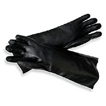 Radnor PVC Gloves Large Black Elbow Length 64057808