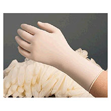 Radnor Disposable Gloves Large 9 1 2in White 5 mil Latex Non Sterile GRDR-LG-1T