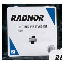 Radnor 24 Person Unitized First Aid Kit In Plastic 64058023