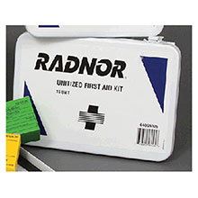 Radnor 16 Person Unitized First Aid Kit In Metal 64058025