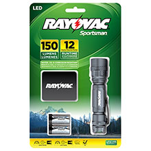 Rayovac 150 Lumen 2 CR123A 3 Watt LED Tactical Flashlight SP123A-B