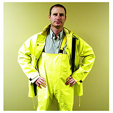River City Garments 2 Piece Yellow Hydroblast Rain Suit .35mm 8402