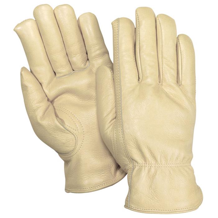 Red Steer Gloves : Red steer gloves tan grain cowhide unlined driver