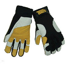 John Tillman & Co Mechanics Gloves Medium Black Gold Pearl TrueFit Super 1490M