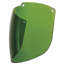"Uvex UVXS9560 by Honeywell Turboshield 9"" X 15 7/8"" X 3/32"" Green Shade 3 Uncoated Polycarbonate Faceshield For Use With Turboshield Headgear and Hardhat Adapter Only"