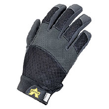 Valeo Anti-Vibration Mechanics Gloves 2X Black Air Mesh Full Finger V130-2X