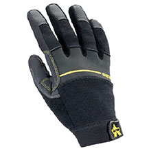 Valeo Mechanics Gloves X Large Black Work Pro Medium Duty Full V220-XL