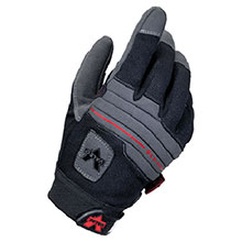 Valeo Anti-Vibration Mechanics Gloves Large Black Vibe Full Finger V415-L