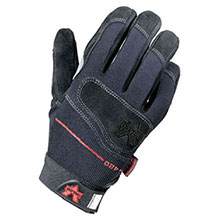 Valeo Mechanics Gloves X Large Black Full Finger Split Cow V420-BLK-XL