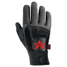 Valeo Mechanics Gloves Medium Black Pro Full Finger Premium Leather V435-M