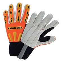 West Chester Hi-Viz Orange R2 Corded Palm Rigger WEC86800-S Small
