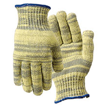 Wells Lamont Cut Resistant Gloves Gray Yellow Small Whizard Metalguard 1882S