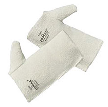 "Wells Lamont WLAH-183 10"" White Jomac Extra Heavy Weight Loop-Out Terry Cloth Heat Resistant Pad With Full Thumb"