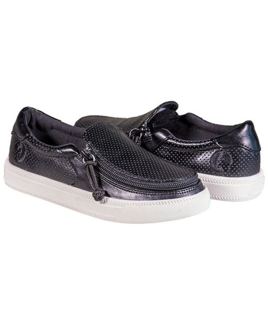 Billy Shoes - Black Perf Lowtop - Adaptive Wheelchair Clothing & Accessories