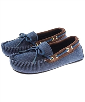 Trimfit Shoes - Denim Moccasin - Perfect for Small Feet - Adaptive Wheelchair Clothing & Accessories