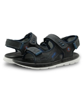 Apakowa Shoes - Black Leather Sandals - Adaptive Wheelchair Clothing & Accessories