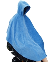 Terry Shower Swim Cape - Whisks the moisture away - Adaptive Wheelchair Clothing