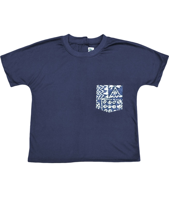 Front entry stretchy polycotton knit back-open tees in navy, charcoal, and black with a print pocket in 3 designs, blue batik, jewels, blue galaxy. Back open! Excellent post surgery, or for those with immobile or weak arms - Adaptive Wheelchair Clothing