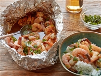 Historic Lynchburg Sweet Fire Chipotle Beer-and-Butter Shrimp