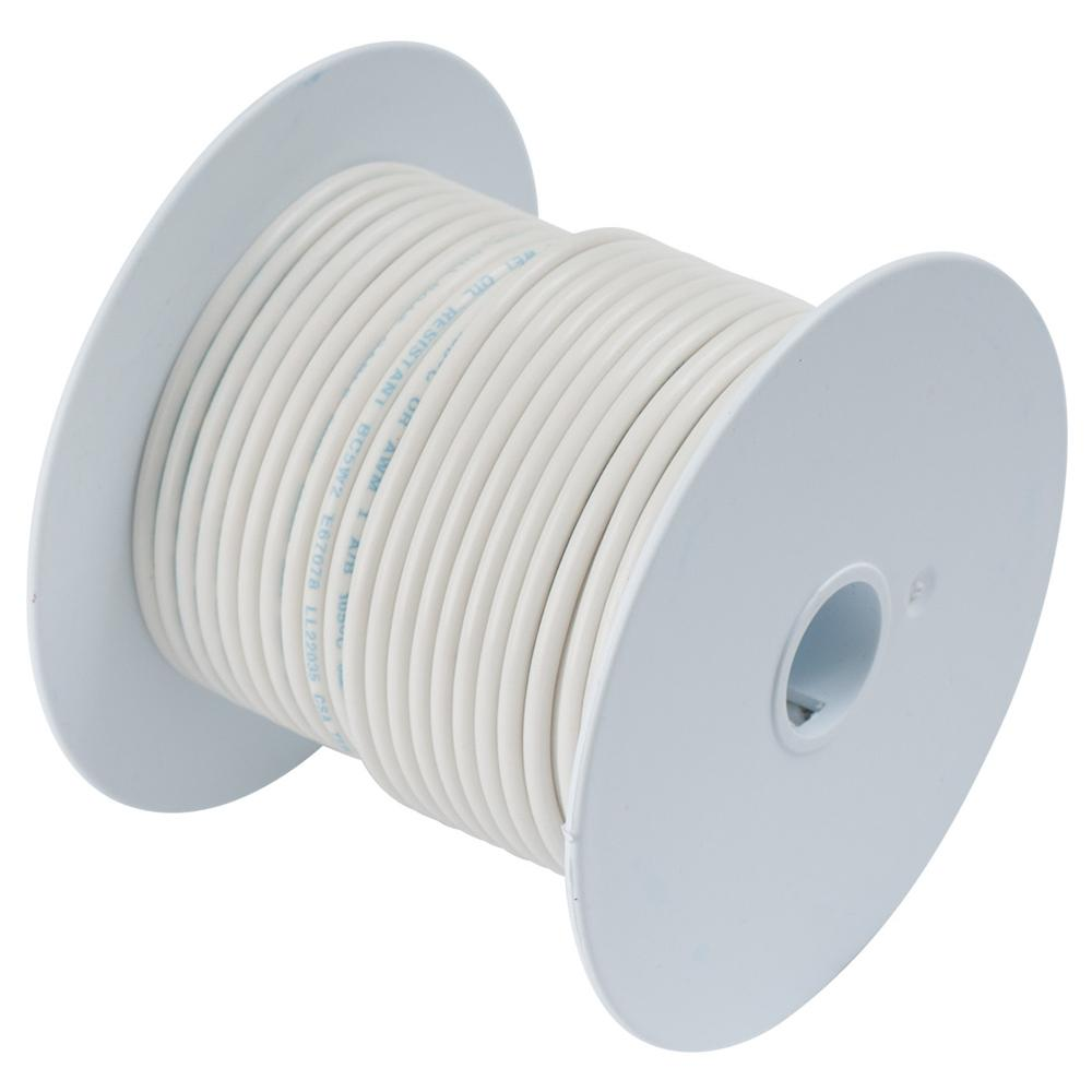 Ancor White 16 AWG Tinned Copper Wire - 100\'